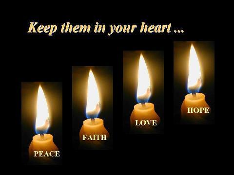 geloof, hoop, liefde, vrede