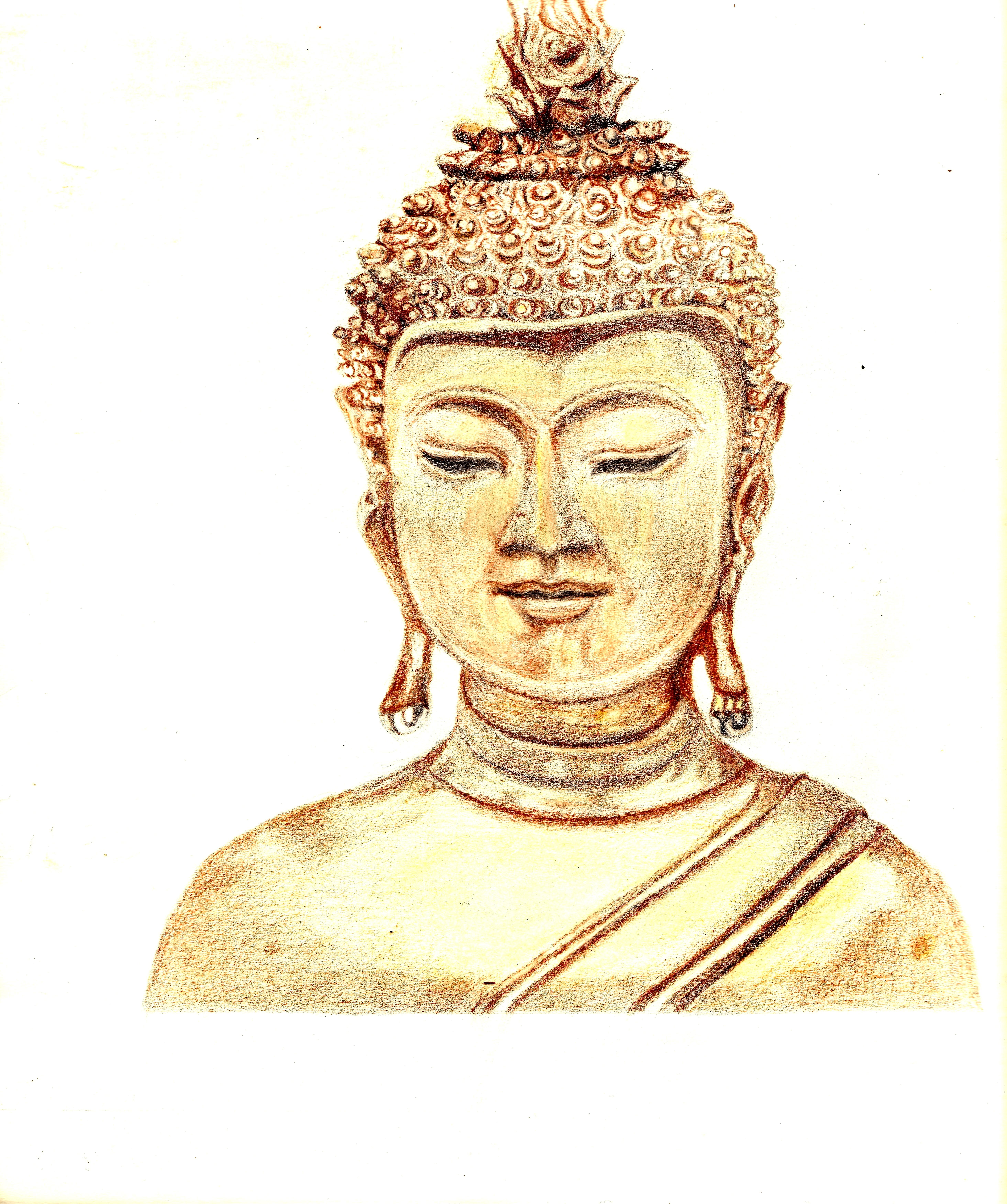eigen tekening, boeddha. – mareiki ॐ